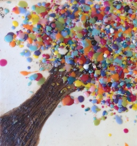 Encaustic Confetti Tree